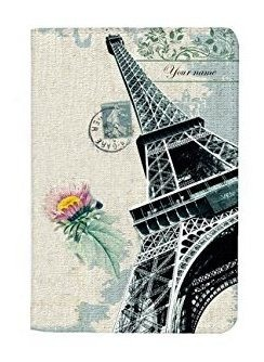 Paris Effel Tower Customized Leather Business Passport Holder Cover/_SUPERTRAMPshop