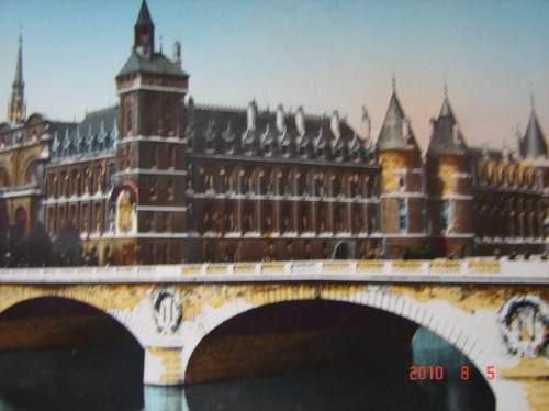 paris, francia.  antigua postal.