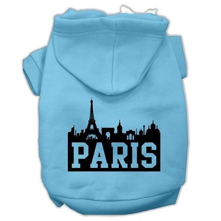 parís horizonte pantalla impresión pet hoodies bebé azul