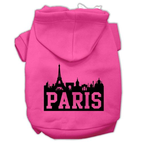 parís horizonte pantalla impresión pet hoodies rosa brilla