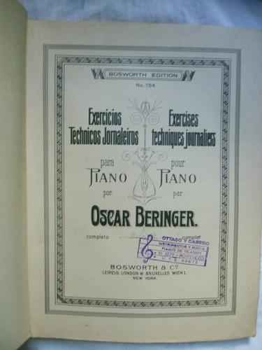 paritura antigua bosworth edition. para piano.oscar beringer