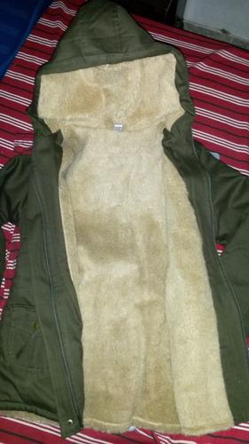 parka c/ corderito campera p/ dama gabardina capucha abrigo