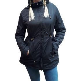 Parka Campera Rompeviento Mujer Con Polar Imperm. T.m Al 6xl