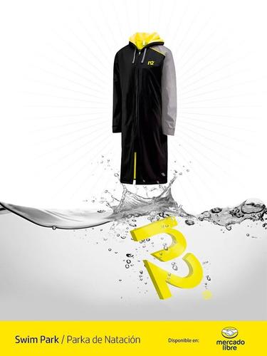 parkas natación n2 ch talla 8-10 años abrigo deportivo