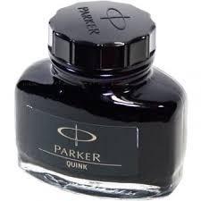 parker quink tinta negra para pluma fuente