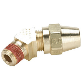 1//2 Compression 90 Degree Elbow Parker VS269AB-8-4-pk5 Air Brake D.O.T Compression Style Fitting Brass Tube to Pipe 1//4 Pack of 5