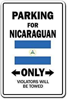 parking for nicaraguan only sign nicaragua flag national pri
