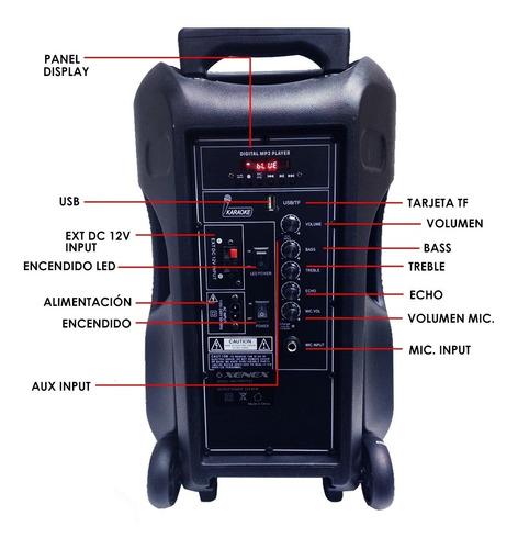parlante 12 activo tripode bateria bluetooth microfono dimm