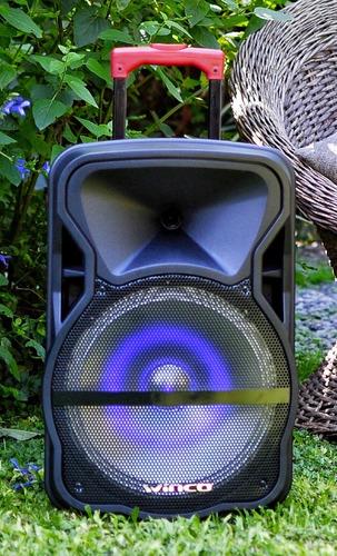 parlante 12 portatil bateria bluetooth gran potencia 5000w + microfono cargador control remoto usb sd radio 12v y 220v