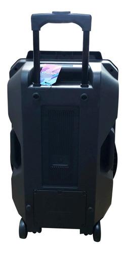 parlante 15 activo led bateria bluetooth + microfono dimm