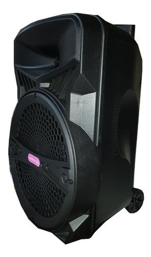 parlante 15 portatil bateria recargable bluetooth potencia 8000w 100rms + microfono inalambrico usb c. remoto + sonido