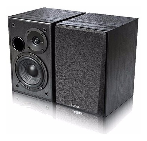 parlante 2.0 edifier r1100 negro 100% madera doble rca