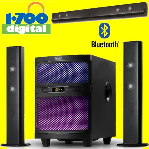 parlante 2.1 bluetooth barra sonido klip 3.5 rca tv cine cas