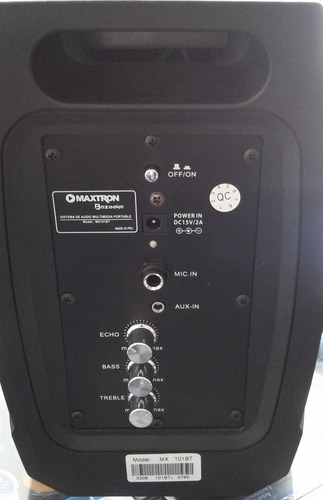 parlante 90 wats recargable , bluetooth,fm, usb, micro,nuevo