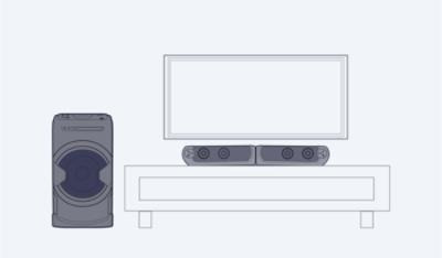 parlante activo sony 2.1 bluetooth home theater mhc-gt4d