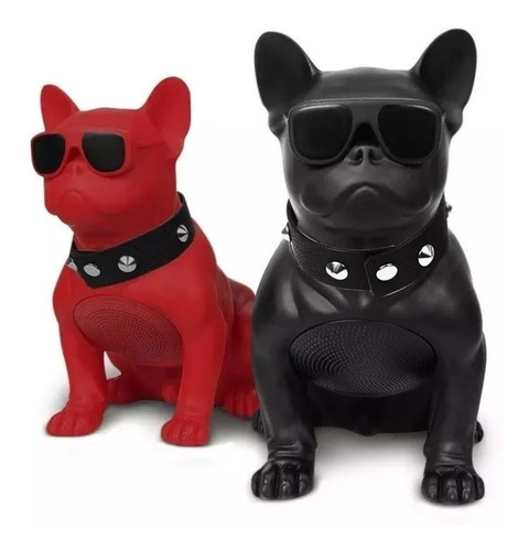 parlante alta voz bluetooth perro bulldog ch m10 grande