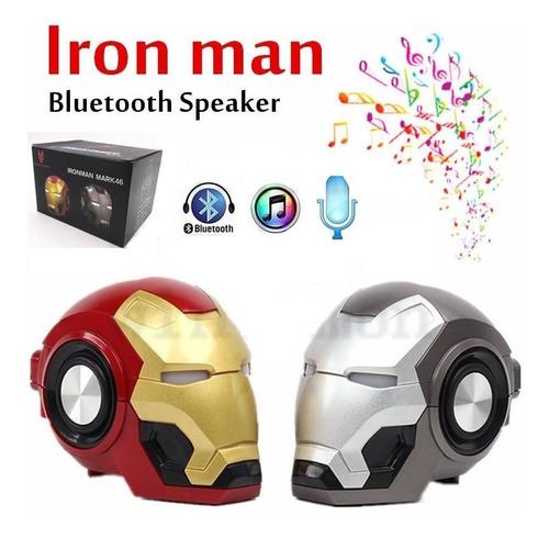 parlante altavoz ironman - spiderman speaker mp3 bluetooth