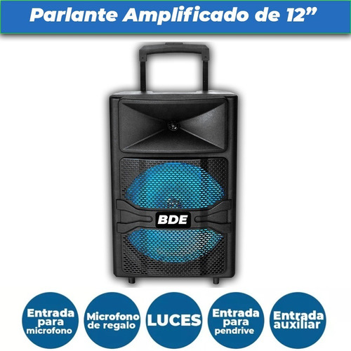 parlante amplificado 12 pulgadas gran potencia 5800w + auris
