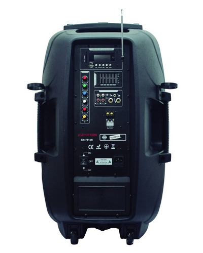 parlante amplificado 45.000w recargable + pedestal + 2 mic