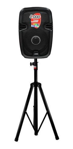 parlante amplificado caja bluetooth pedestal micrófono 5000w