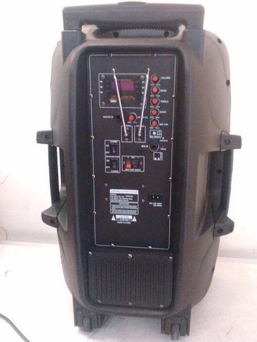 parlante amplificado usb/recargable, a 12 voltios perifoneo