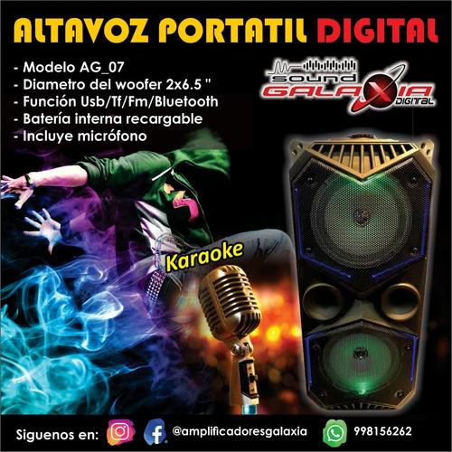 parlante amplificador doble parlante 6.5  con microfono