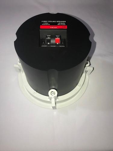 parlante audio sonido ambiental de techo con caja resonancia