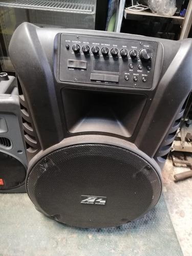 parlante autonomo cabina sonido con microfono inalambrico