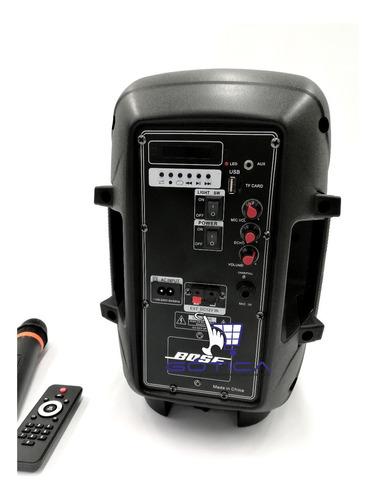 parlante bafle cabina activa 8  150w rms recargable con mic