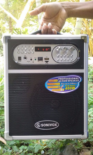 parlante bafle portatil recargable karaoke bluetooth fm micr