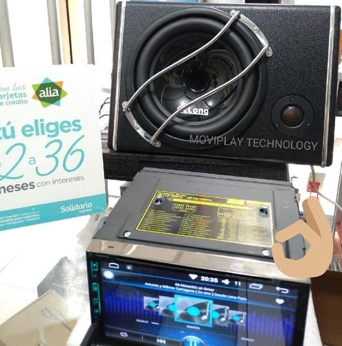 parlante + bajo + amplificador + tweeter + kit de instalació