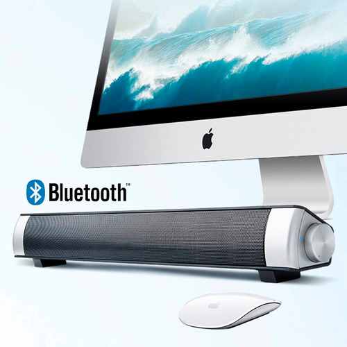 parlante barra sonido estereo soundbar bluetooth 10w + envio