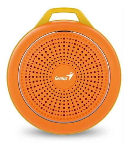 parlante bluetooth 4.1 genius 906bt portatil con mic naranja