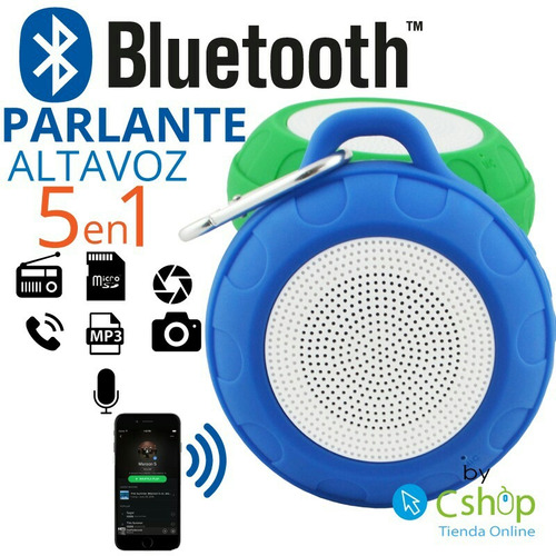 parlante  bluetooth  acuatico radio fm envio  provincia