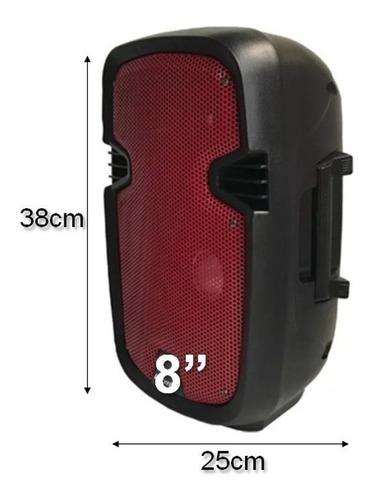 parlante bluetooth cabina sonido activa recargable + tripode