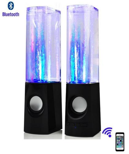 parlante bluetooth con agua y luces led puerto usb microsd