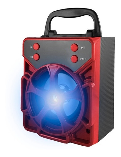 parlante bluetooth con luces led super potente usb memoria