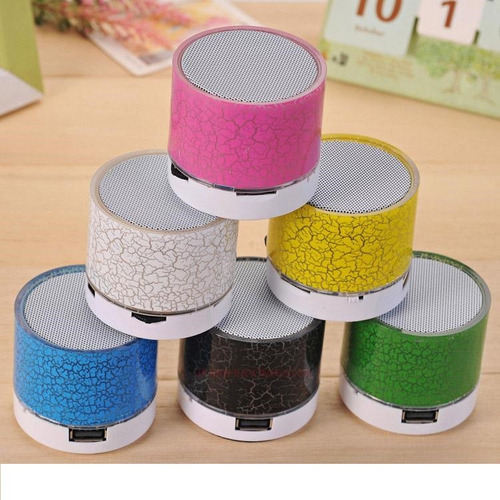 parlante bluetooth diferentes colores usb micro sd led fm