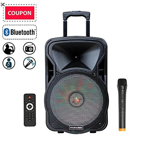 parlante bluetooth feiyang starqueen 12  portable pa system