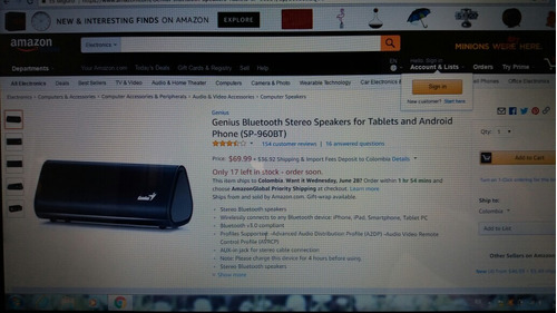 parlante bluetooth genius sp 960bt muy buen estado