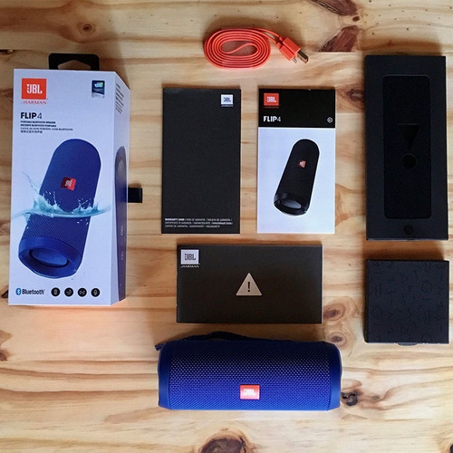 parlante bluetooth jbl flip 4 ios android sumergible harman