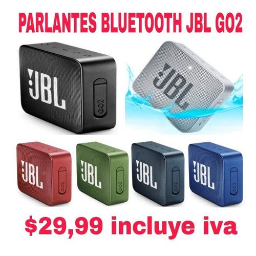 parlante bluetooth jbl go2 100% original