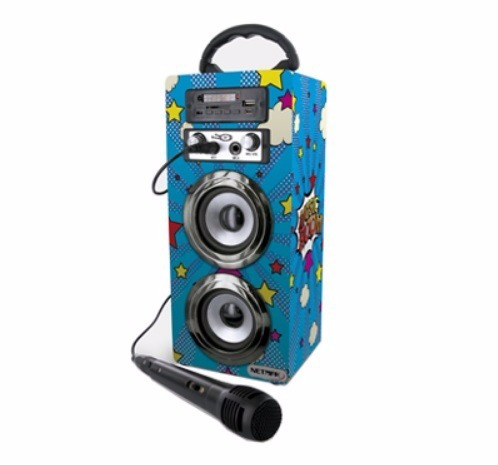 parlante bluetooth karaoke 10w lector sd usb mp3 microfono