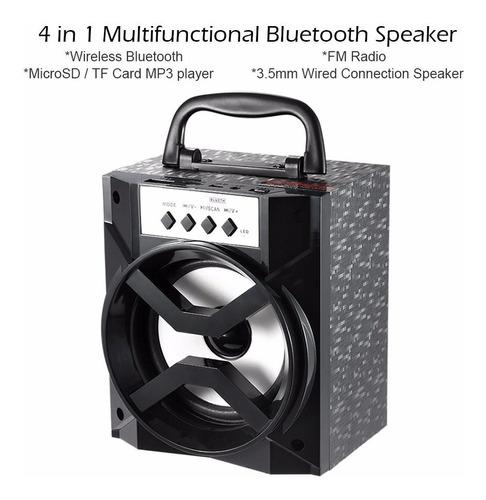 parlante bluetooth led de colores. fm. usb. microsd. gangaa!
