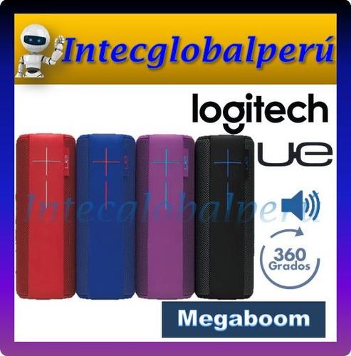 parlante bluetooth logitech ue megaboom sonido 360º 20 horas