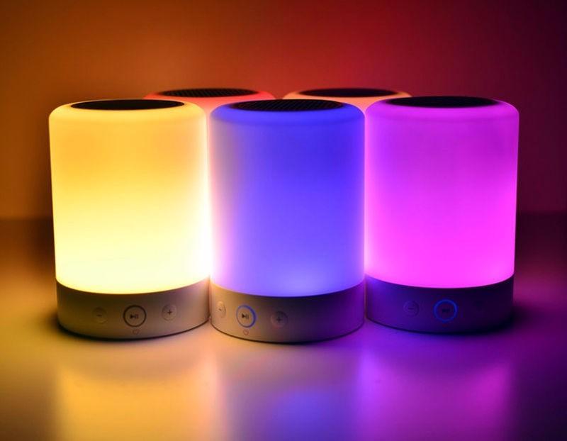 Parlante Bluetooth Luces Led Colores Lampara Ym388 59900 en
