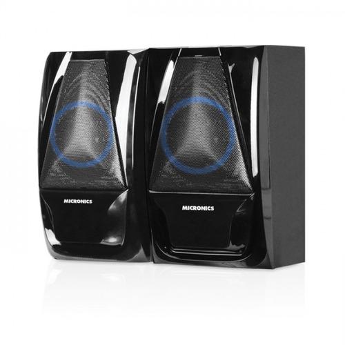 parlante bluetooth micronic woofer,fm, usb, 90 wats luz led