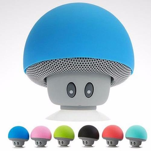parlante bluetooth mini speaker hongo colores recargable