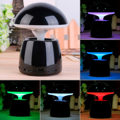 parlante bluetooth multifuncion y lampara led touch 7colors
