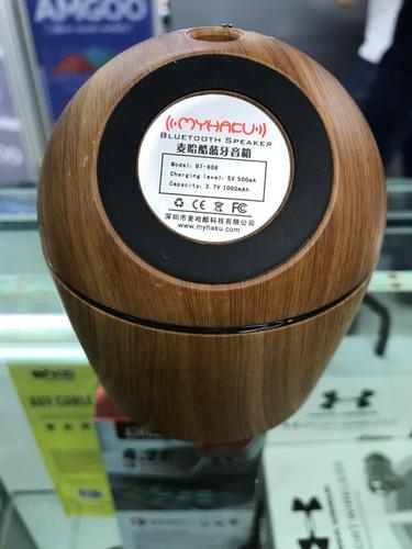 parlante bluetooth myhak excelente sonido diseño tipo madera